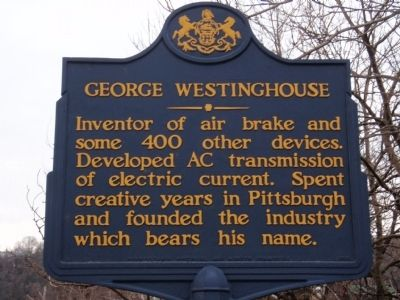 George Westinghouse Marker image. Click for full size.