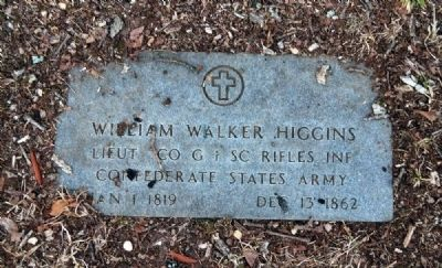 William Walker Higgins Tombstone image. Click for full size.