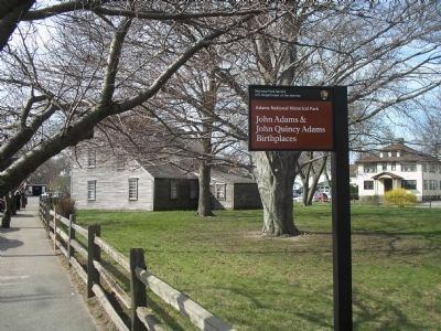 Secondary Marker at Adams Birthplace image. Click for full size.