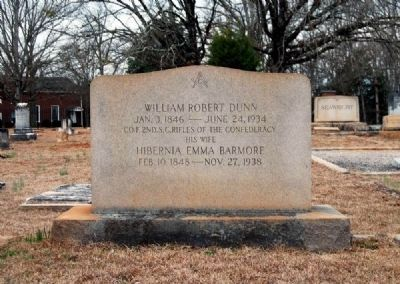 William Robert Dunn and<br>Hibernia Emma Barmore Tombstone image. Click for full size.