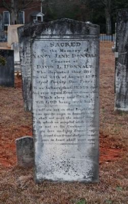 Nancy Jane Donnald Tombstone<br>Carved by W.T. White image. Click for full size.