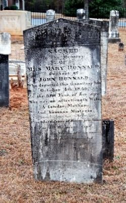Mary Donnald Tombstone<br>Carved by W.T. White image. Click for full size.