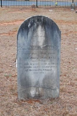 Col. Samuel Donald Tombstone image. Click for full size.