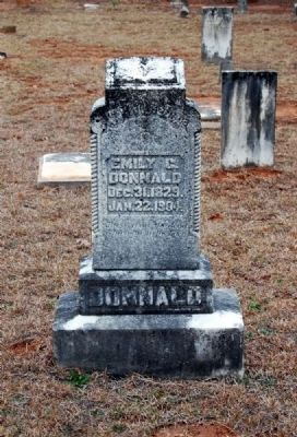 Emily C. Donald Tombstone image. Click for full size.