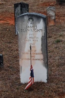 James Seawright Sr. Tombstone image. Click for full size.