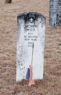 John Wier Tombstone image. Click for full size.