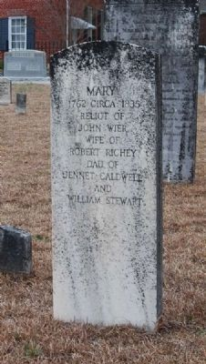 Mary Wier Tombstone image. Click for full size.