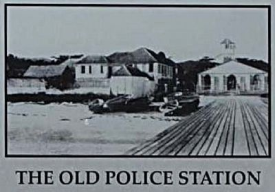 The Old Police Station Marker, close-up image. Click for full size.