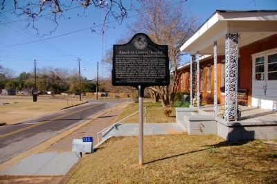 Americus Colored Hospital Marker image. Click for full size.