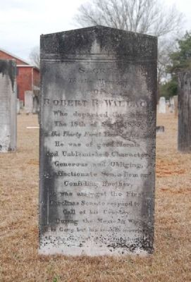 Robert R. Wallace Tombstone image. Click for full size.