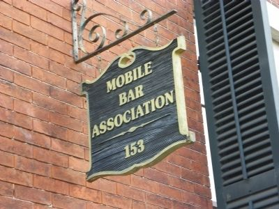 The Mobile Bar Association Marker image. Click for full size.