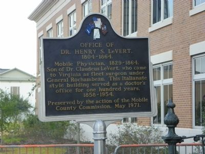 Office of Dr. Henry S. LeVert, 1804-1864 Marker image. Click for full size.