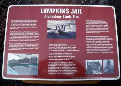 Lumpkins Jail Marker image. Click for full size.
