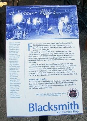 Blacksmith and Machine Shop Marker image. Click for full size.