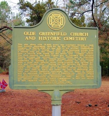 Olde Greenfield Church and Historic Cemetery Marker image. Click for full size.
