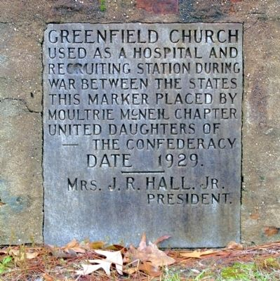 Greenfield Church Marker image. Click for full size.