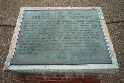 U.S. Air Force Special Air Missions Marker image. Click for full size.