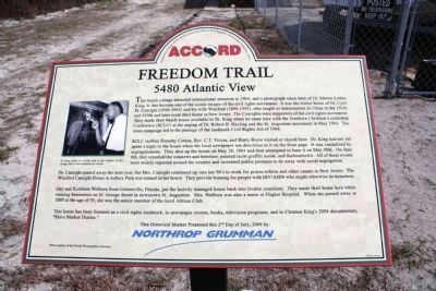Freedom Trail - 5480 Atlantic View Marker image. Click for full size.