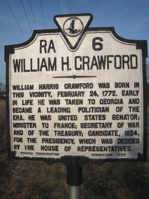 William H. Crawford Marker image. Click for full size.