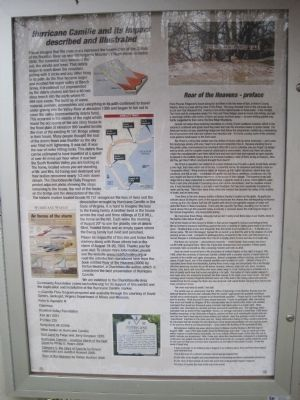 Hurricane Camille Information posted on the wayside kiosk image. Click for full size.