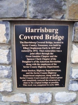 Harrisburg Covered Bridge Marker image. Click for full size.