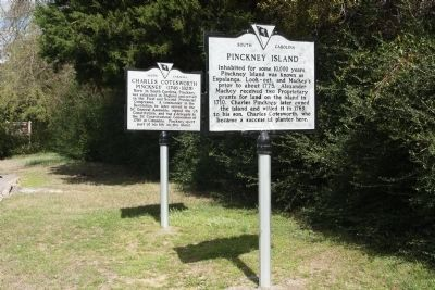 Pinckney Island Marker shares location with Charles Cotesworth Pinckney Marker image. Click for full size.