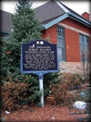 The Anderson Street Railway Marker image. Click for full size.