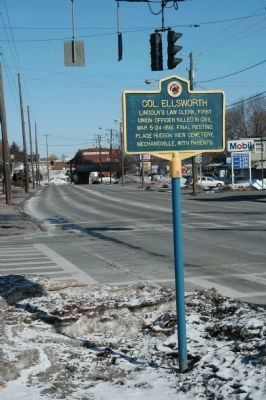 Col. Ellsworth Marker, Looking North image. Click for full size.