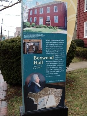 Boxwood Hall Marker image. Click for full size.
