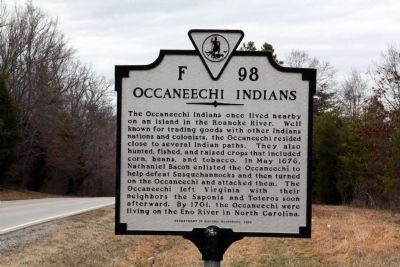 Occaneechi Indians Marker image. Click for full size.