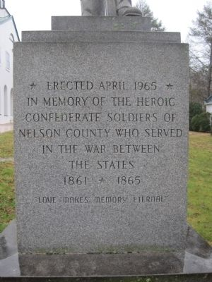 Nelson County Civil War Memorial Marker image. Click for full size.