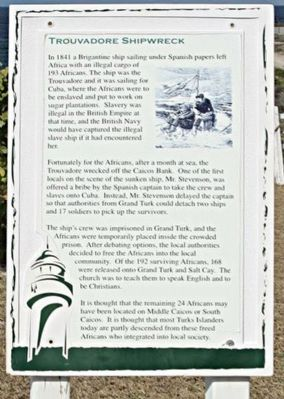 Trouvadore Shipwreck Marker image. Click for full size.