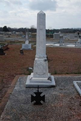 Capt. William Henry White<br>Tombstone - South Facing image. Click for full size.