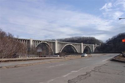 George Westinghouse Bridge in East Pittsburgh image. Click for full size.