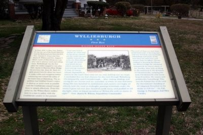 Wylliesburgh Civil War Trails Marker image. Click for full size.