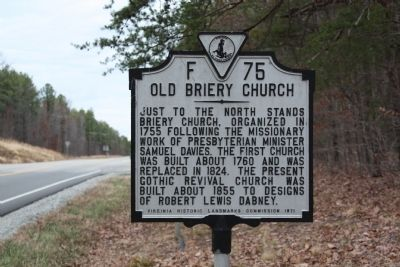 Old Briery Church Marker image. Click for full size.