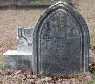 Capt. George Allen Wardlaw<br>Tombstone image. Click for full size.