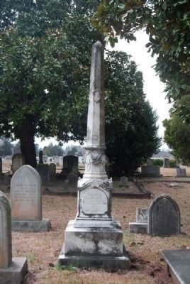 Judge David Lewis Wardlaw<br>Tombstone - South Facing image. Click for full size.