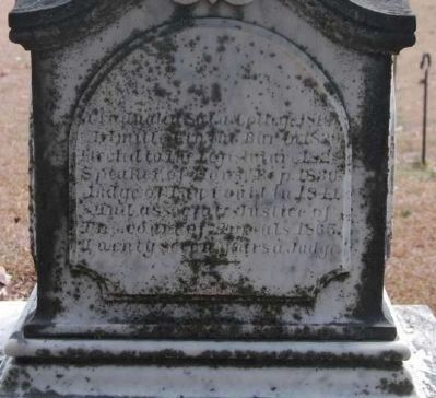 Judge David Lewis Wardlaw<br>Tombstone - East Facing image. Click for full size.