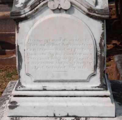 Judge David Lewis Wardlaw<br>Tombstone - West Facing image. Click for full size.