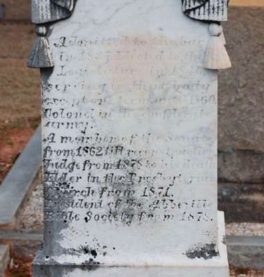 Thomas and Margaret Martha Thomson Tombstone -<br>North Facing image. Click for full size.
