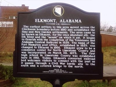 Elkmont, Alabama Marker image. Click for full size.