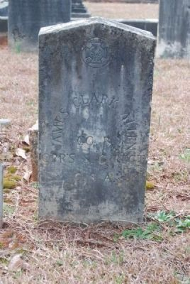 Pvt. James Clark Allen<br>Tombstone image. Click for full size.
