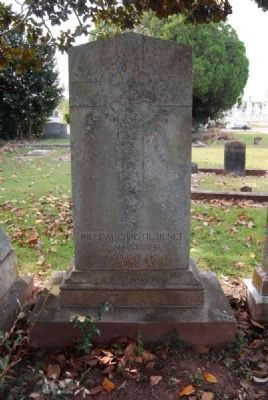Judge William Christie Benet<br>Tombstone - Front image. Click for full size.