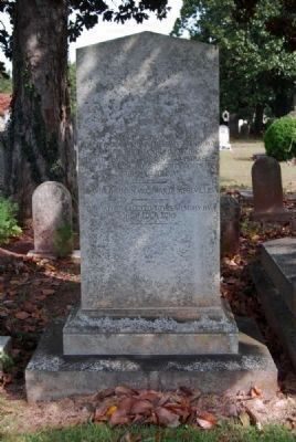 William Christie Benet<br>Tombstone - Reverse image. Click for full size.