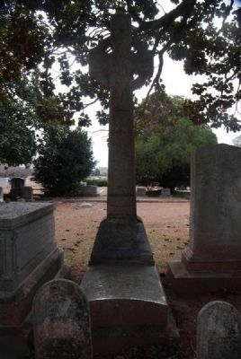 Susan McGowan Benet Tombstone -<br>Cross and Base image. Click for full size.