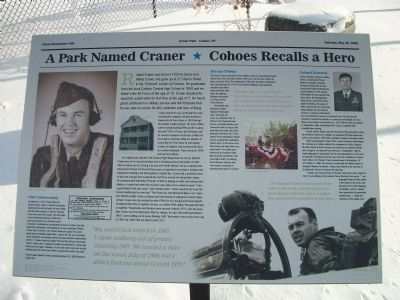 A Park Named Craner * Cohoes Recalls a Hero Marker image. Click for full size.