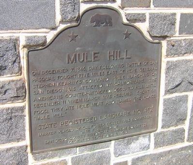Mule Hill Marker image. Click for full size.