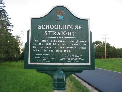 Schoolhouse Straight Marker image. Click for full size.