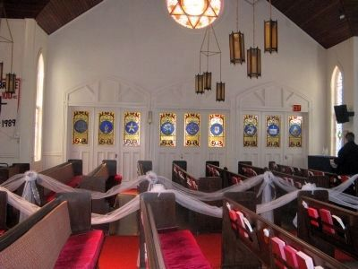 Stained Glass Windows - West Side of Sanctuary image. Click for full size.